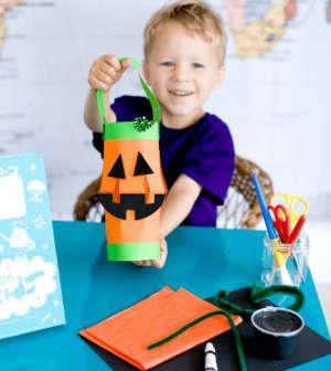 Free Jack O'Lantern Craft Box For Kids